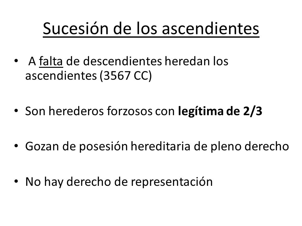 Sucesión de los ascendientes
