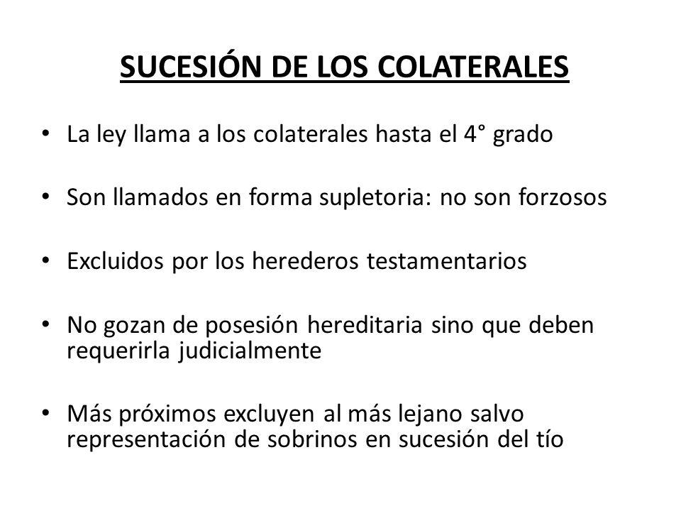 SUCESIÓN DE LOS COLATERALES