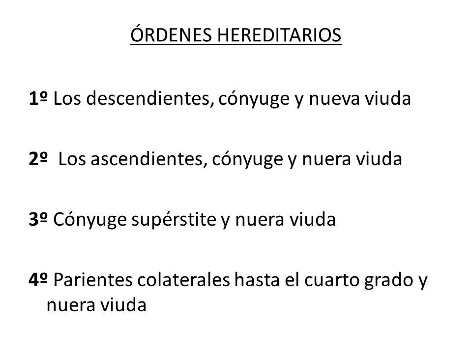 ÓRDENES HEREDITARIOS