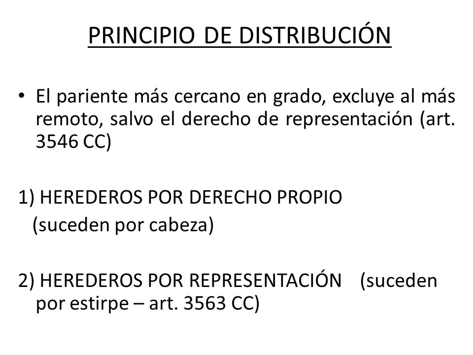 PRINCIPIO DE DISTRIBUCIÓN