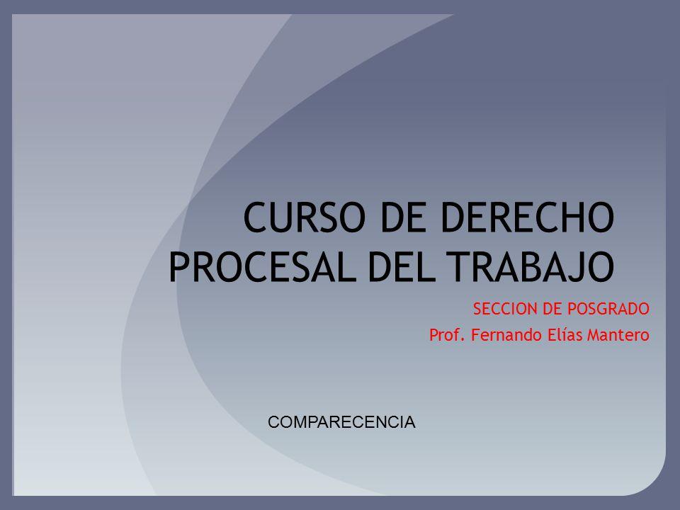 CURSO DE DERECHO PROCESAL DEL TRABAJO