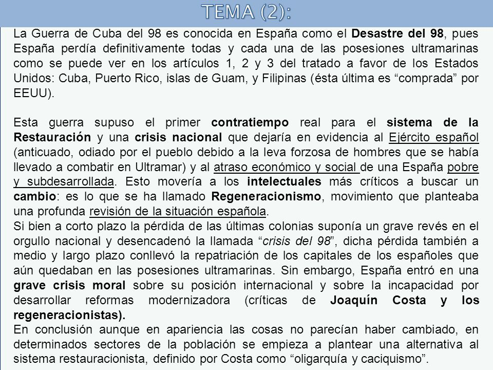 TEMA (2):