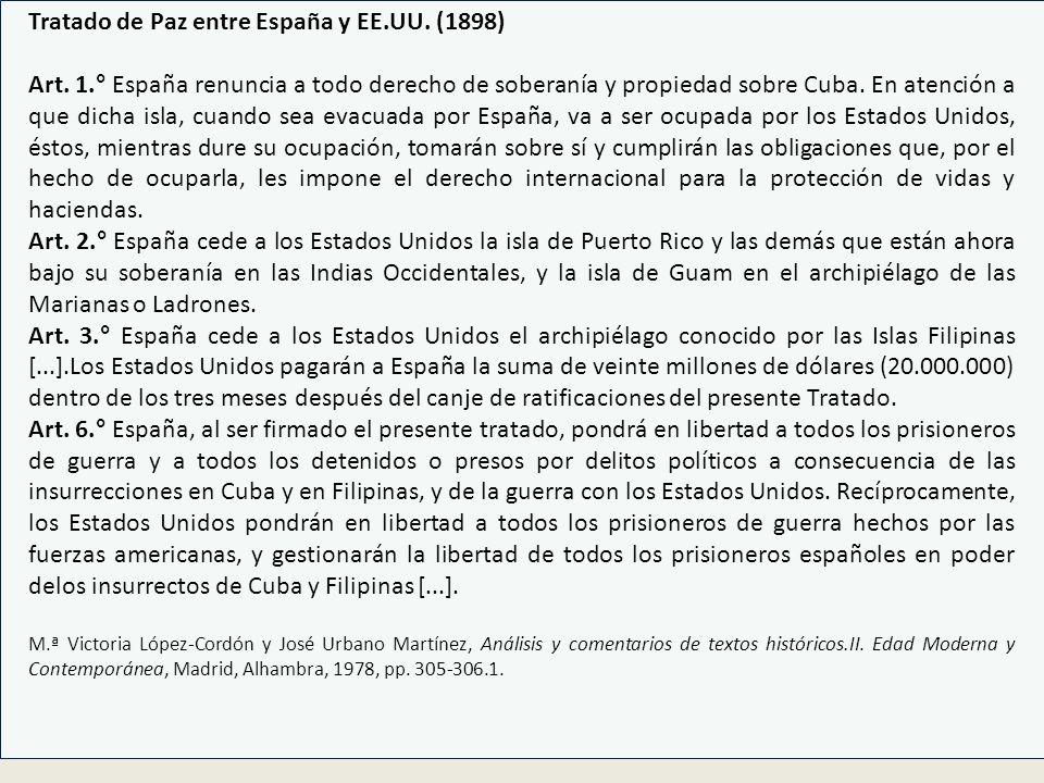 Tratado de Paz entre España y EE.UU. (1898)