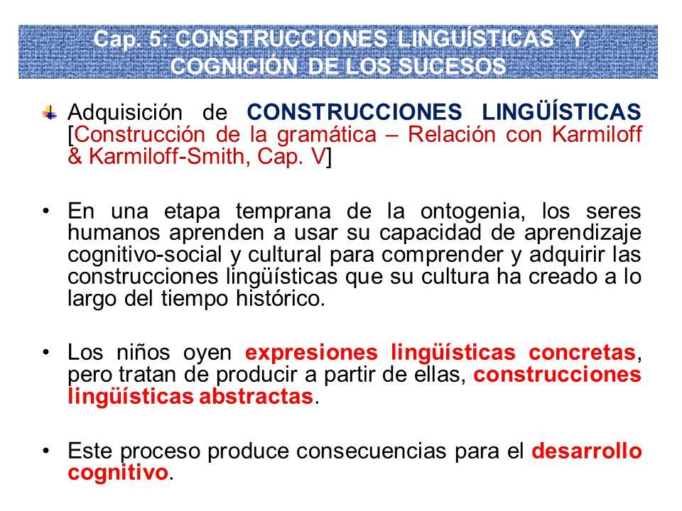 Cap. 5: CONSTRUCCIONES LINGUÍSTICAS Y COGNICIÓN DE LOS SUCESOS