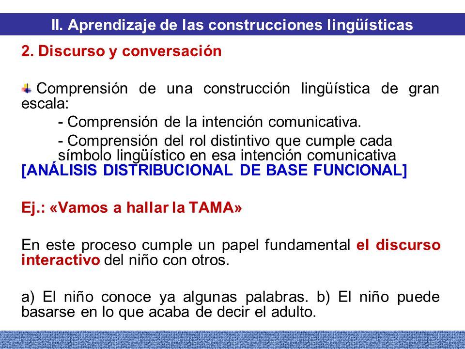 II. Aprendizaje de las construcciones lingüísticas