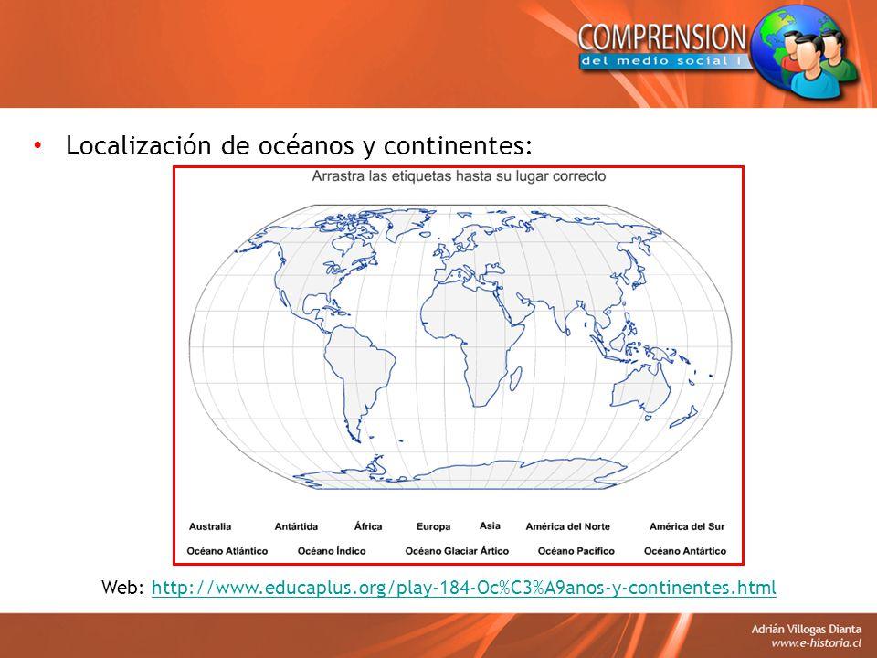 Web: http://www.educaplus.org/play-184-Oc%C3%A9anos-y-continentes.html