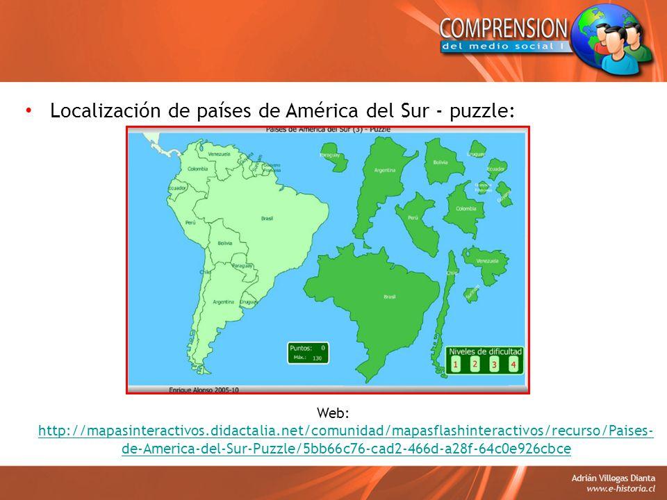 Localización de países de América del Sur - puzzle: