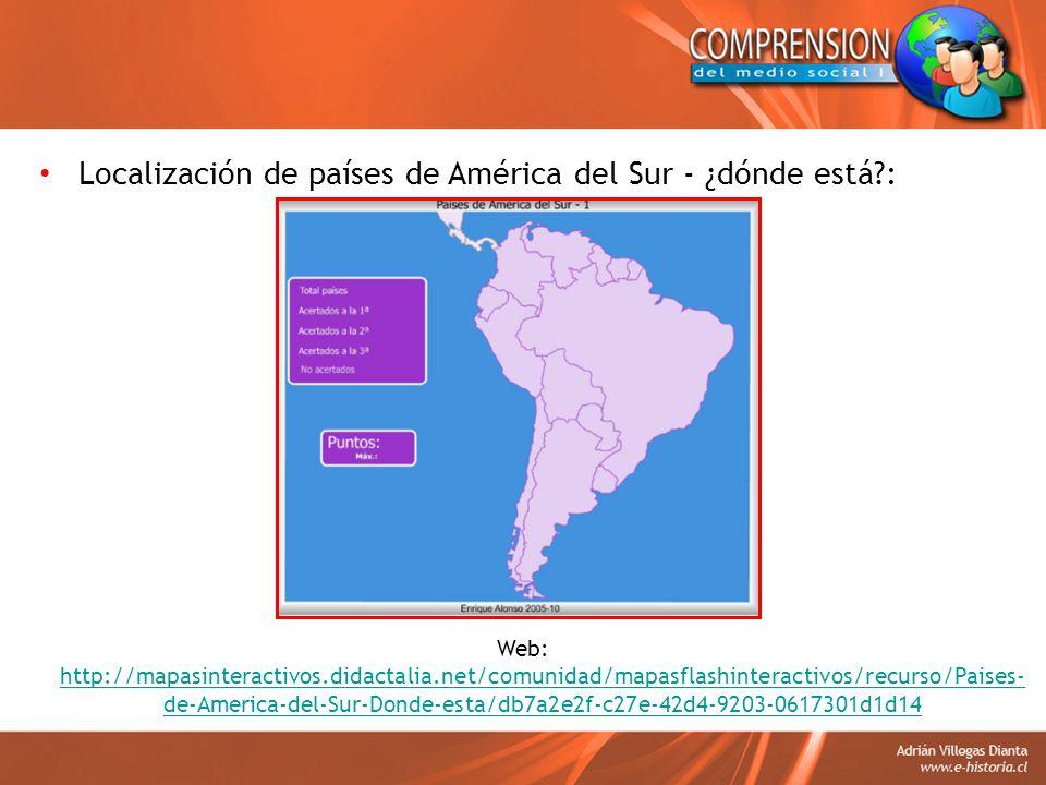 Localización de países de América del Sur - ¿dónde está :