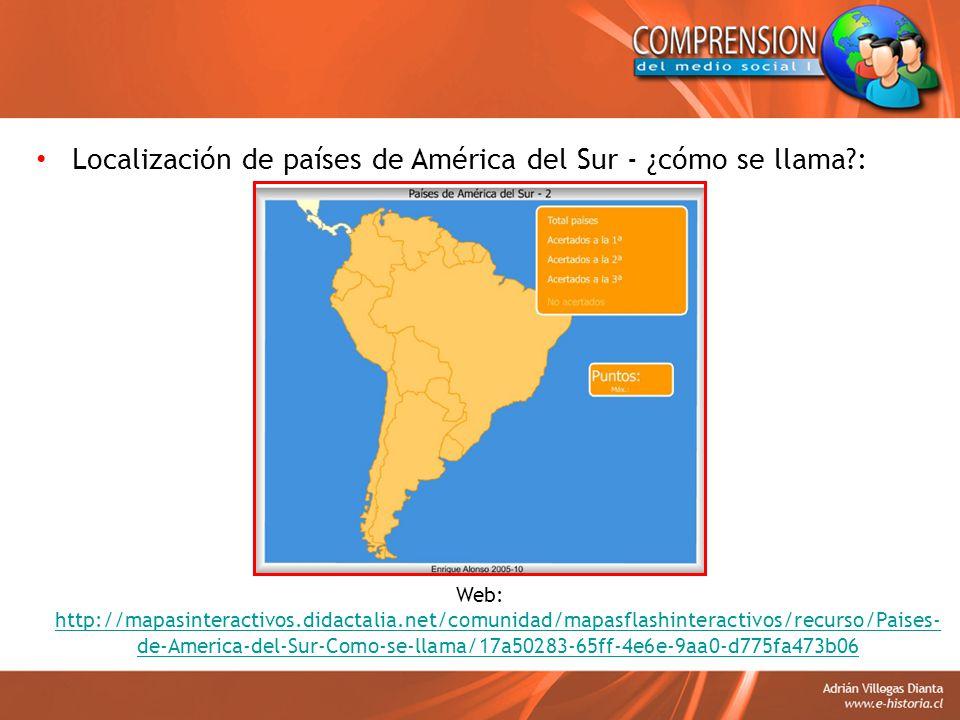 Localización de países de América del Sur - ¿cómo se llama :