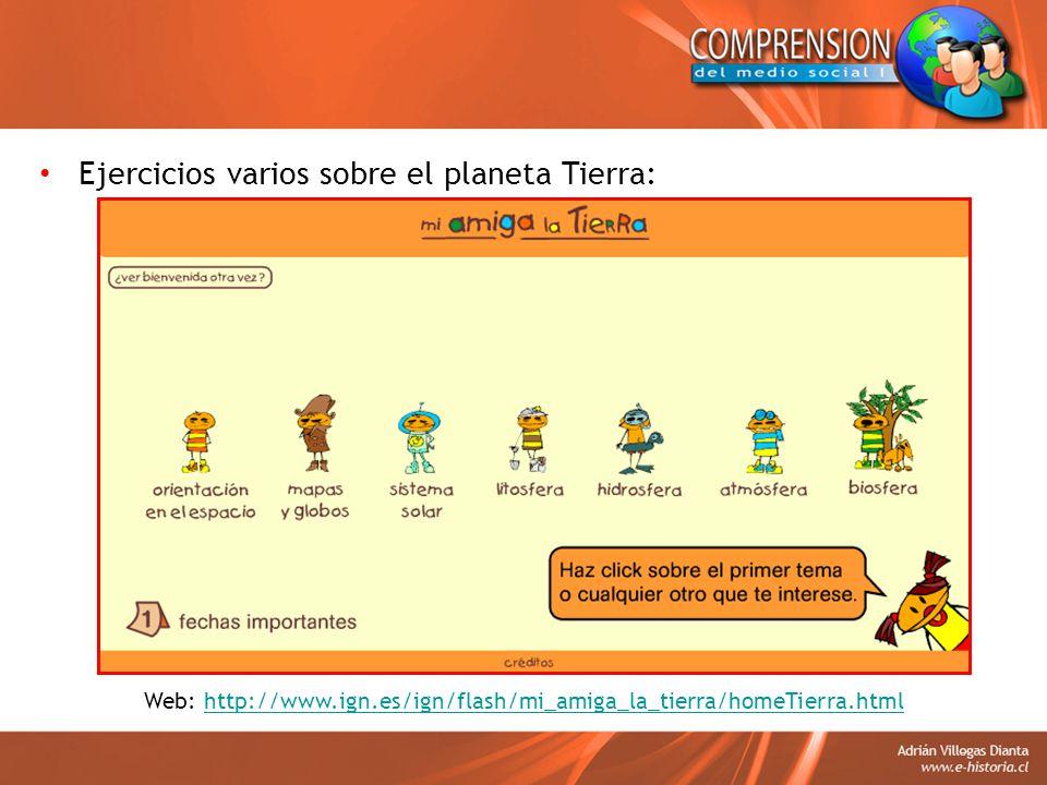 Web: http://www.ign.es/ign/flash/mi_amiga_la_tierra/homeTierra.html