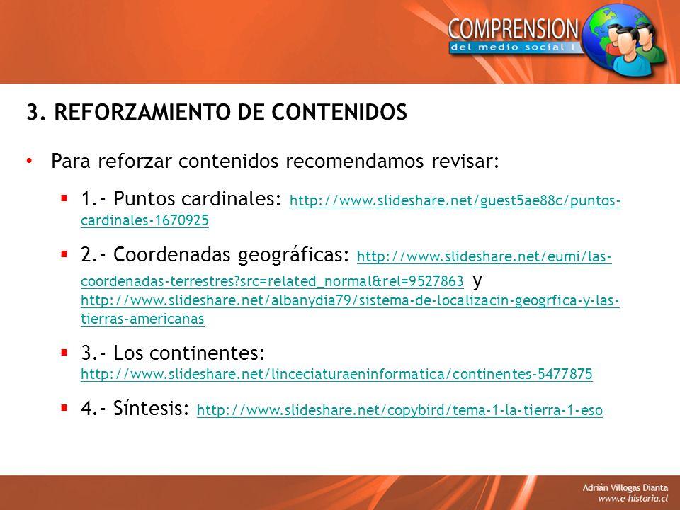3. REFORZAMIENTO DE CONTENIDOS