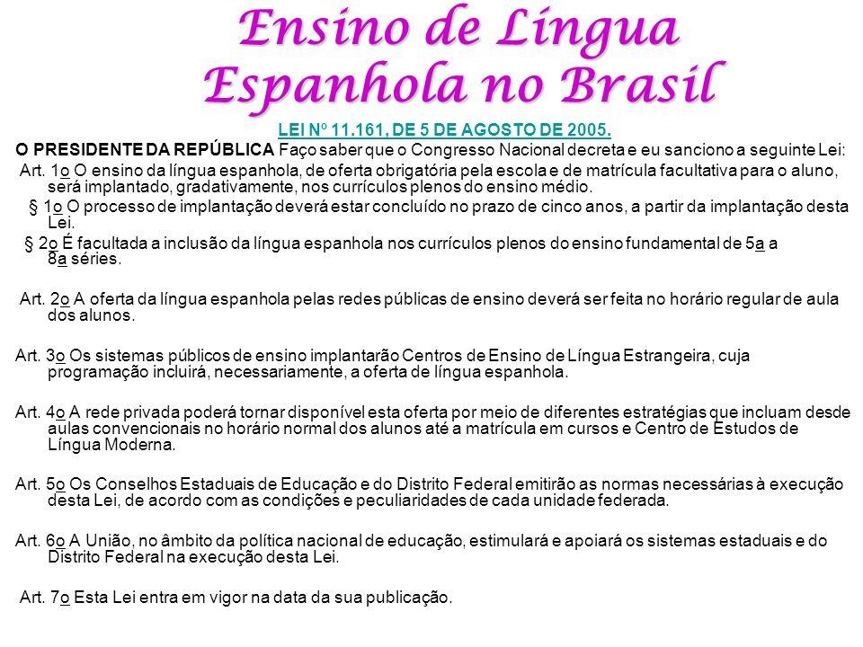 Ensino de Língua Espanhola no Brasil