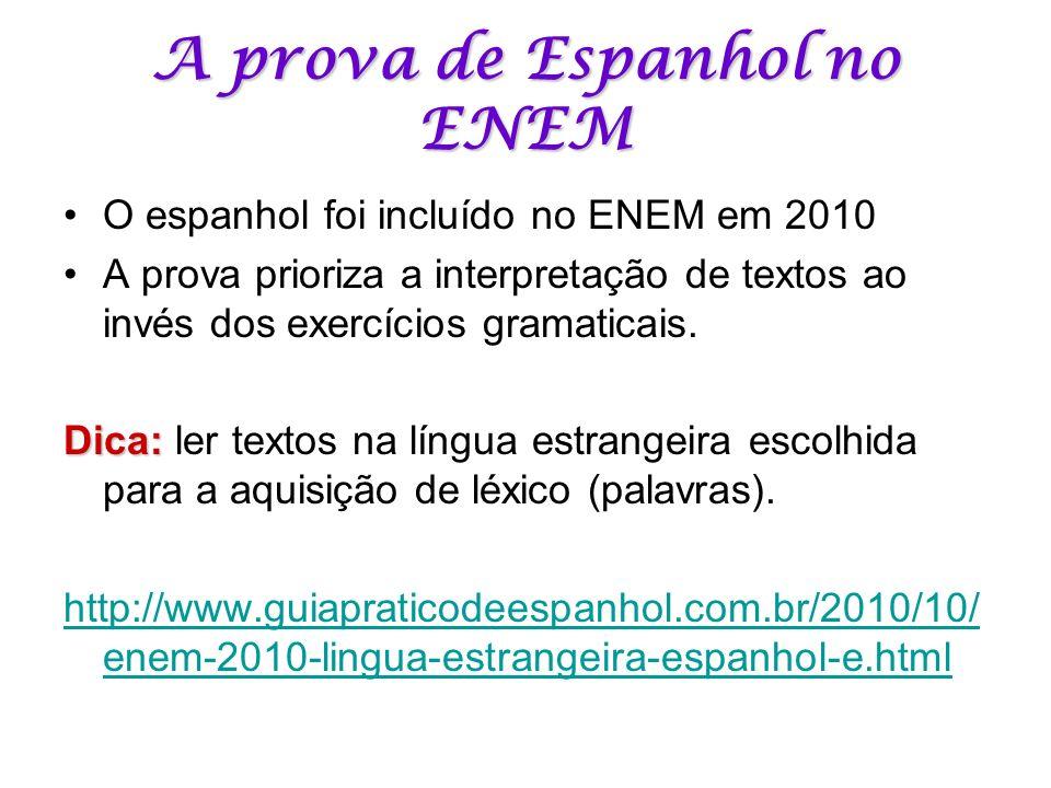 A prova de Espanhol no ENEM