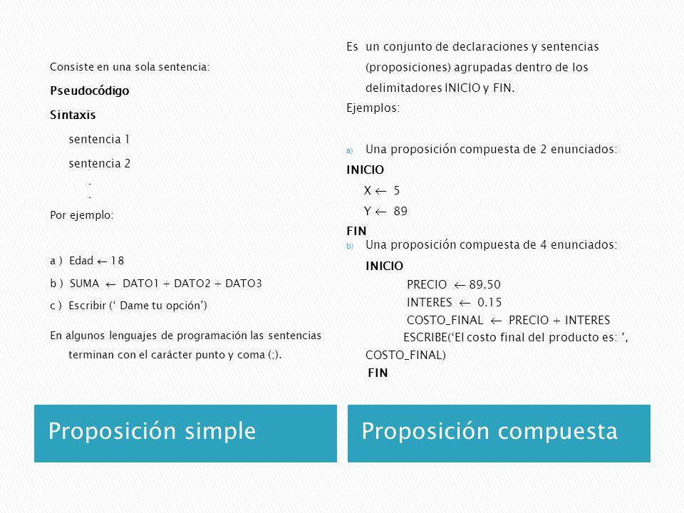 Proposición compuesta