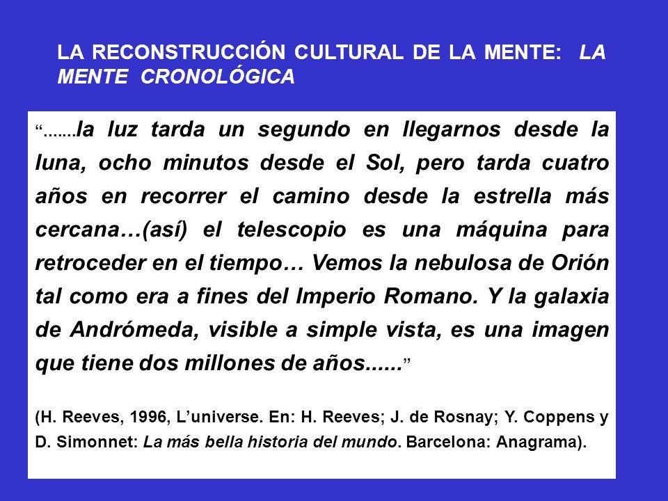 LA RECONSTRUCCIÓN CULTURAL DE LA MENTE: LA MENTE CRONOLÓGICA