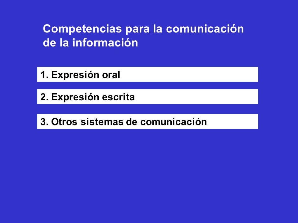 Competencias para la comunicación de la información