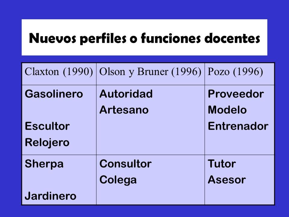 Nuevos perfiles o funciones docentes
