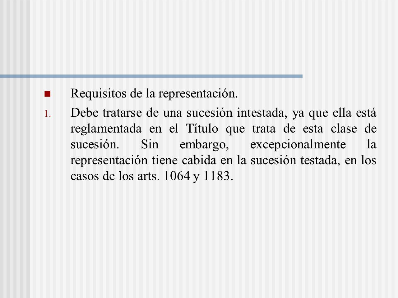 Requisitos de la representación.