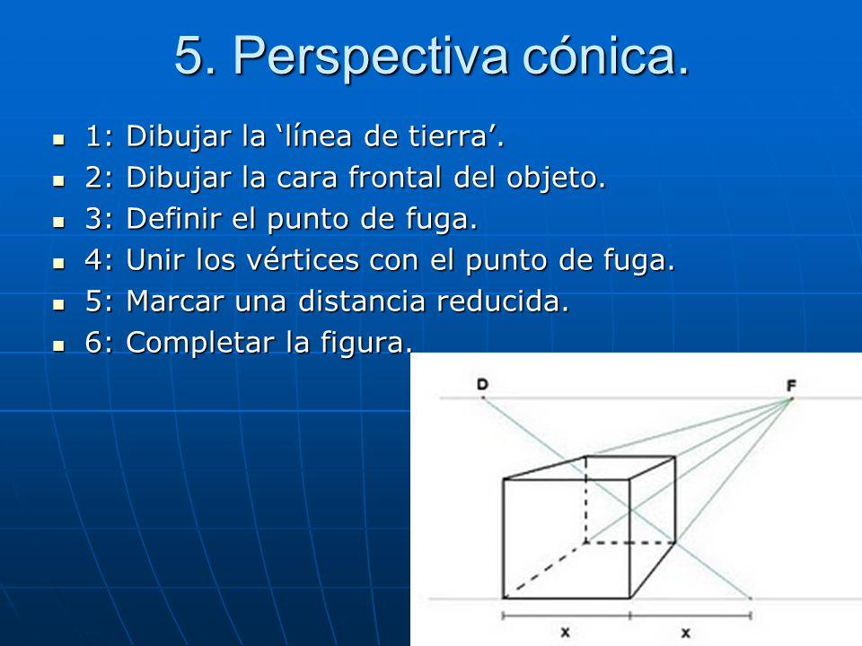 5. Perspectiva cónica. 1: Dibujar la 'línea de tierra'.