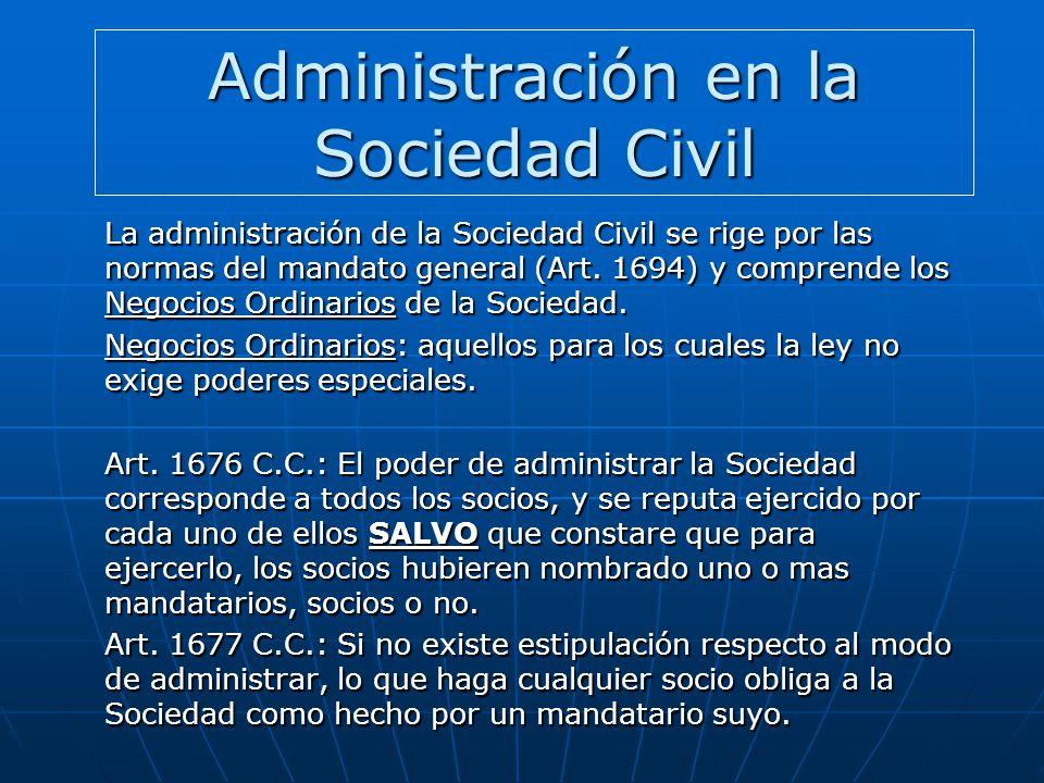 Administración en la Sociedad Civil