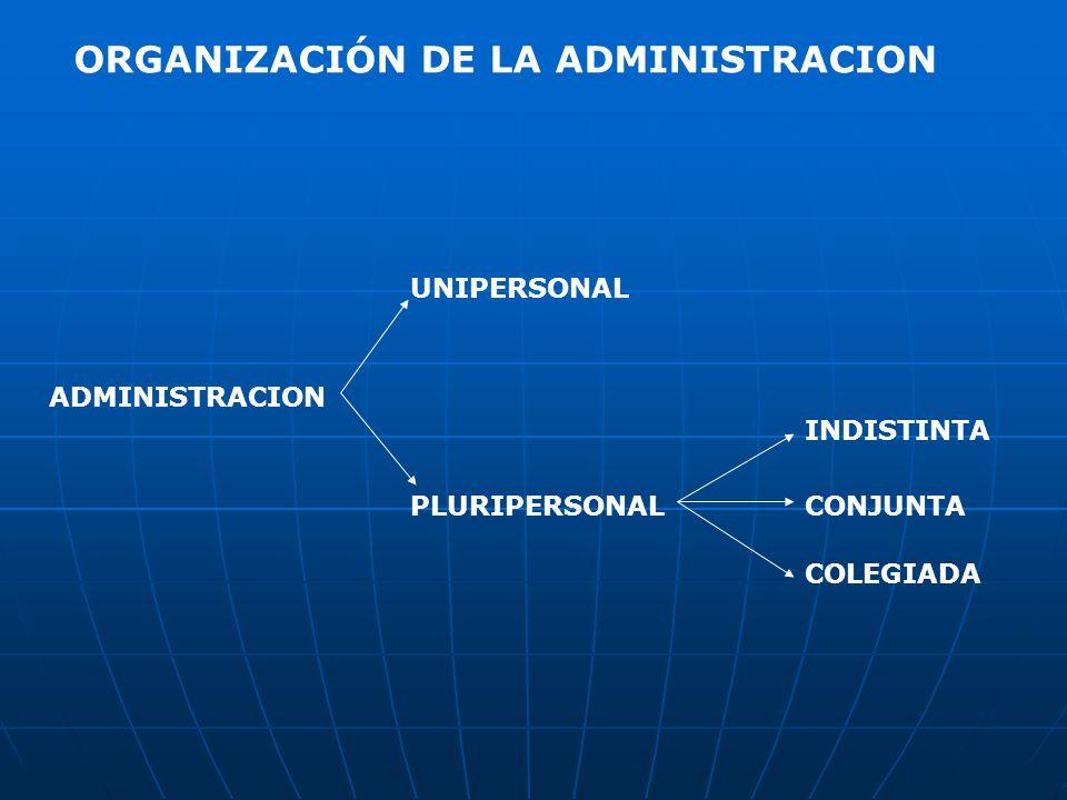 ORGANIZACIÓN DE LA ADMINISTRACION