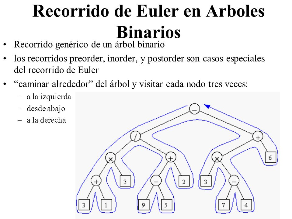 Recorrido de Euler en Arboles Binarios