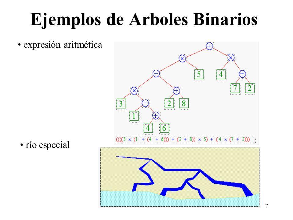 Ejemplos de Arboles Binarios