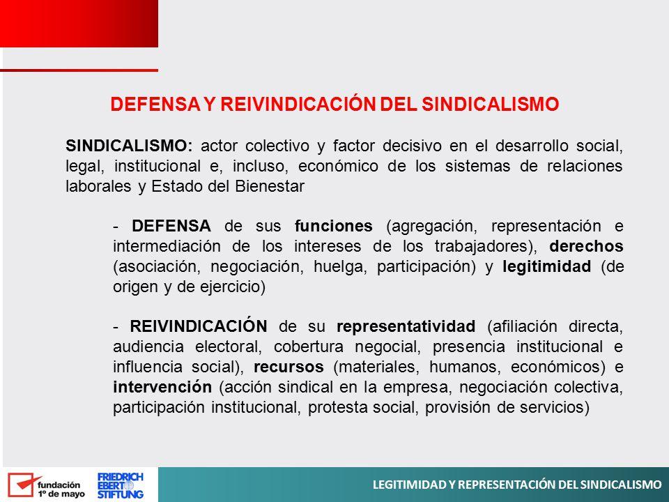 DEFENSA Y REIVINDICACIÓN DEL SINDICALISMO