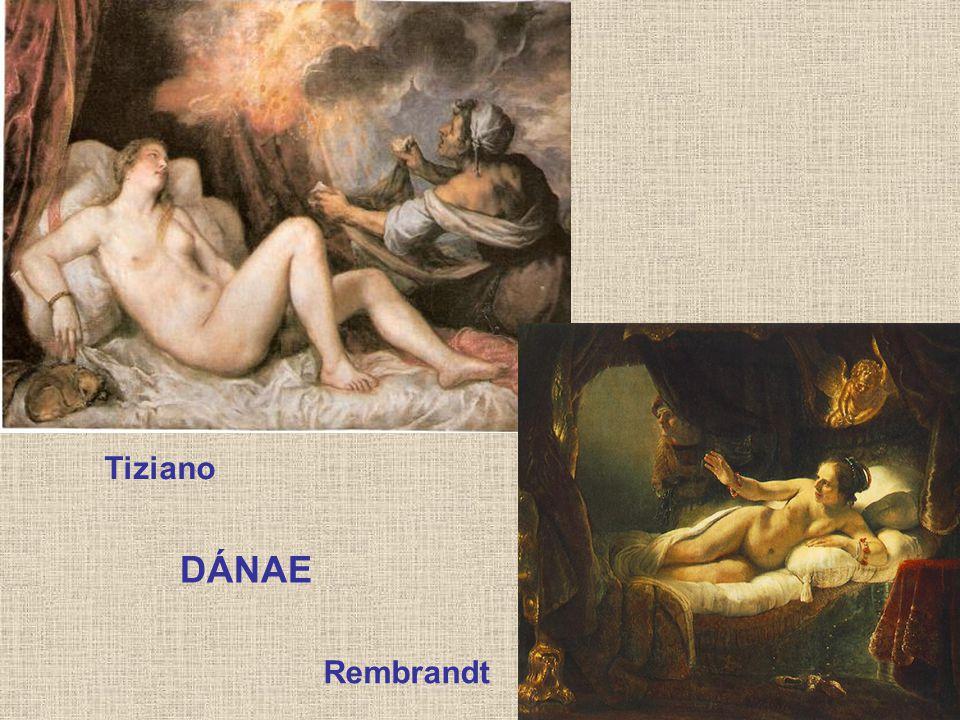 Tiziano DÁNAE Rembrandt