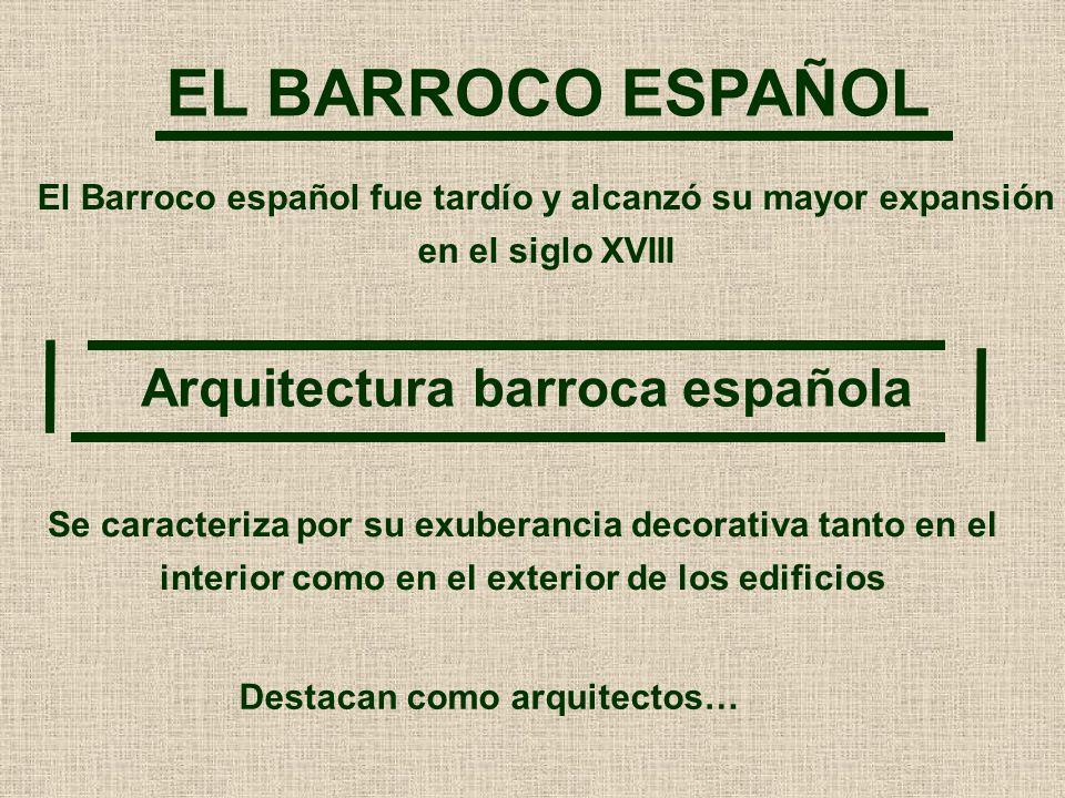 EL BARROCO ESPAÑOL Arquitectura barroca española
