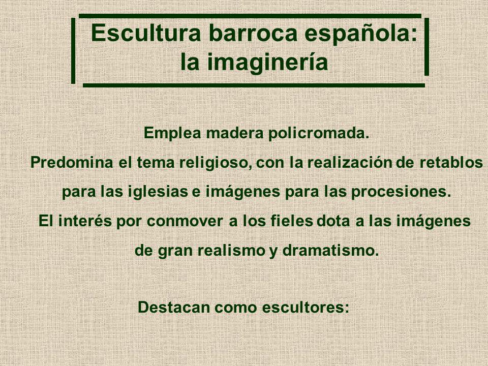 Escultura barroca española: la imaginería