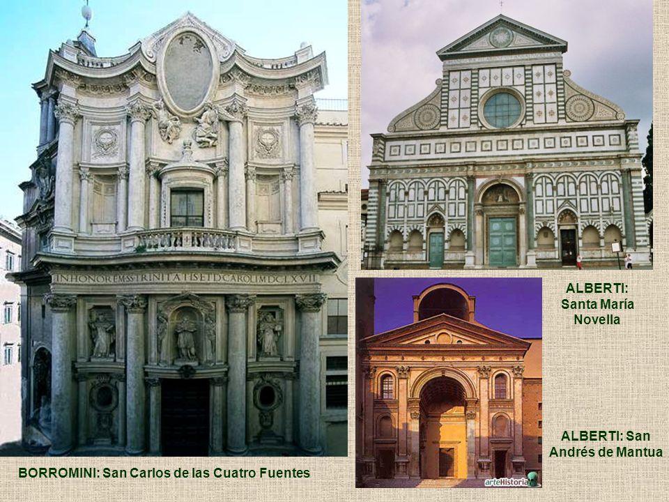 ALBERTI: Santa María. Novella. ALBERTI: San. Andrés de Mantua.
