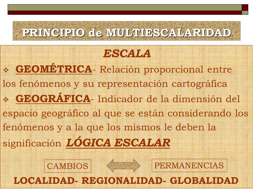 PRINCIPIO de MULTIESCALARIDAD