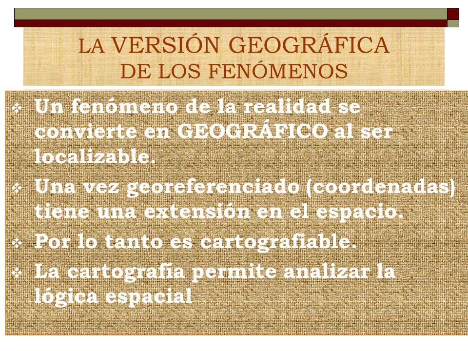 LA VERSIÓN GEOGRÁFICA DE LOS FENÓMENOS