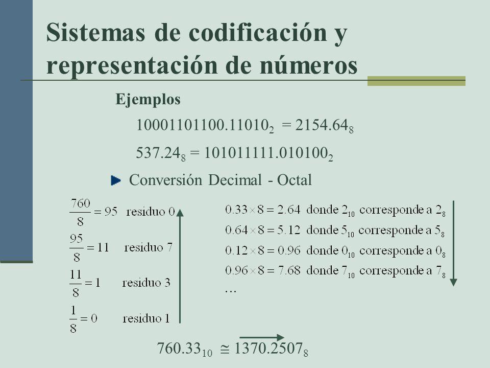Sistemas de codificación y representación de números
