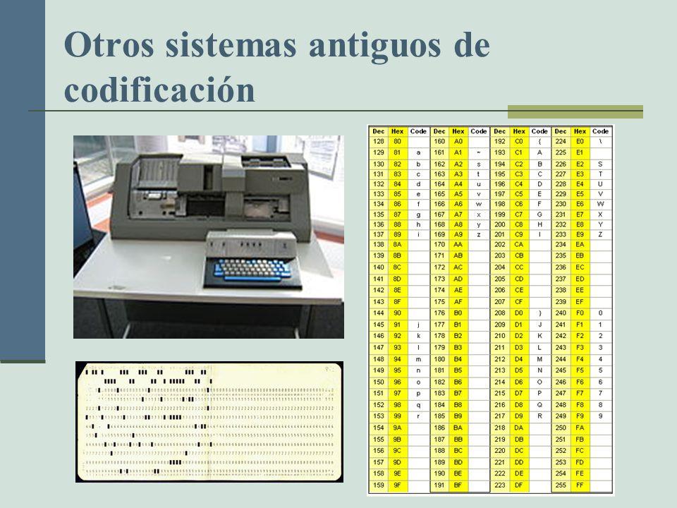 Otros sistemas antiguos de codificación