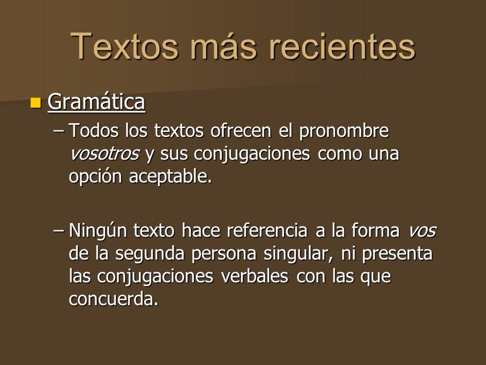 Textos más recientes Gramática