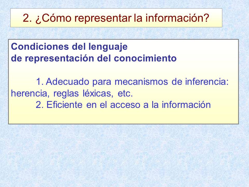 2. ¿Cómo representar la información
