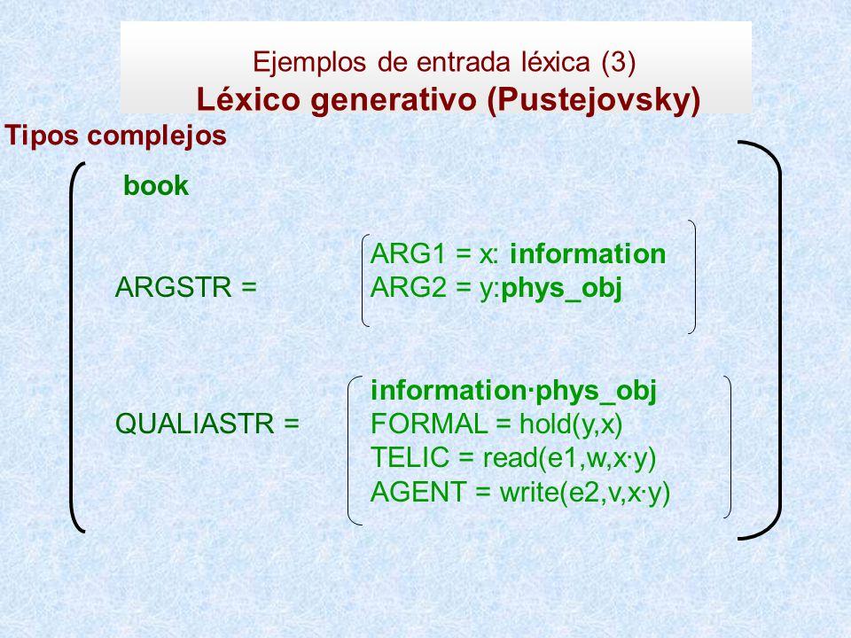 Léxico generativo (Pustejovsky)
