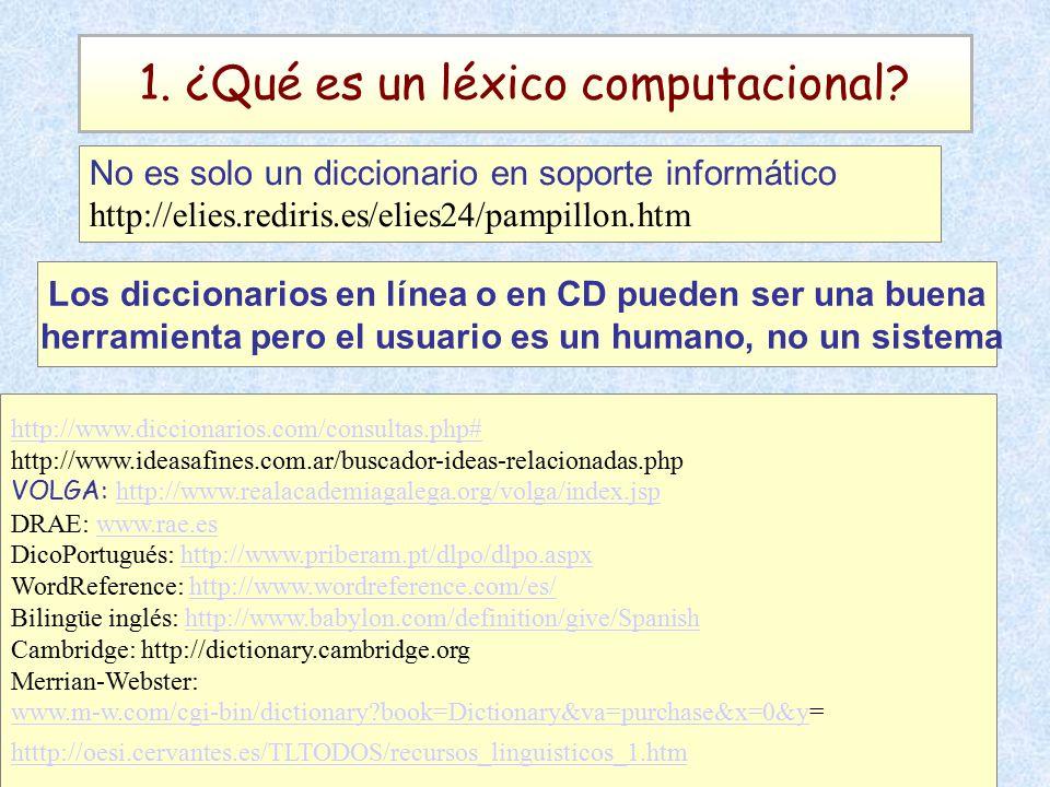1. ¿Qué es un léxico computacional