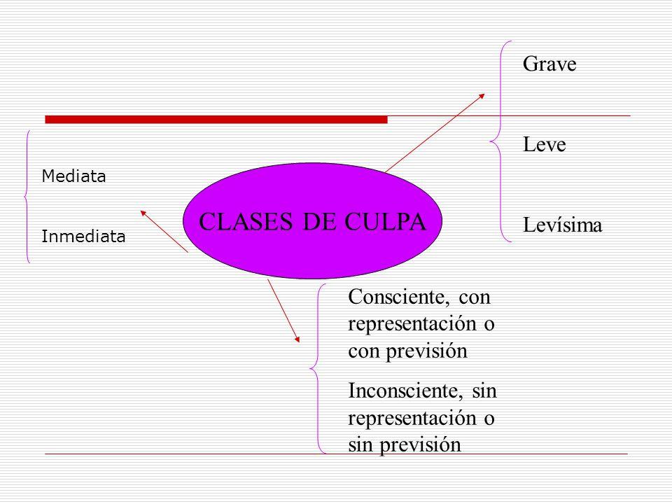 CLASES DE CULPA Grave Leve Levísima