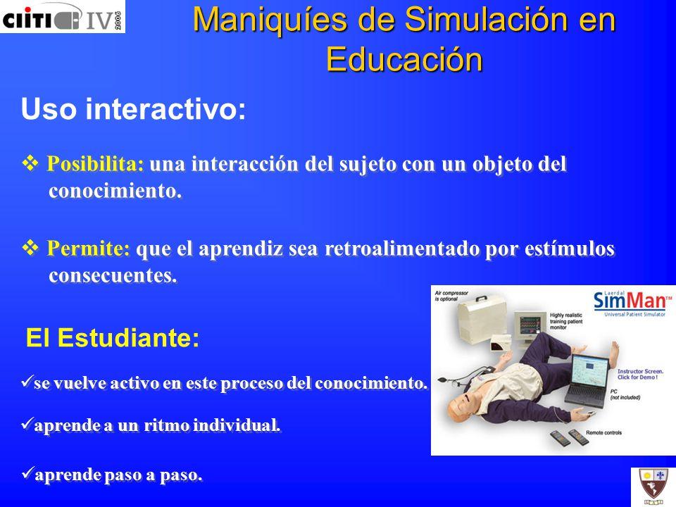 Maniquíes de Simulación en Educación