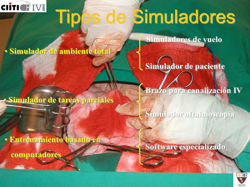 Tipos de Simuladores Simuladores de vuelo Simulador de ambiente total