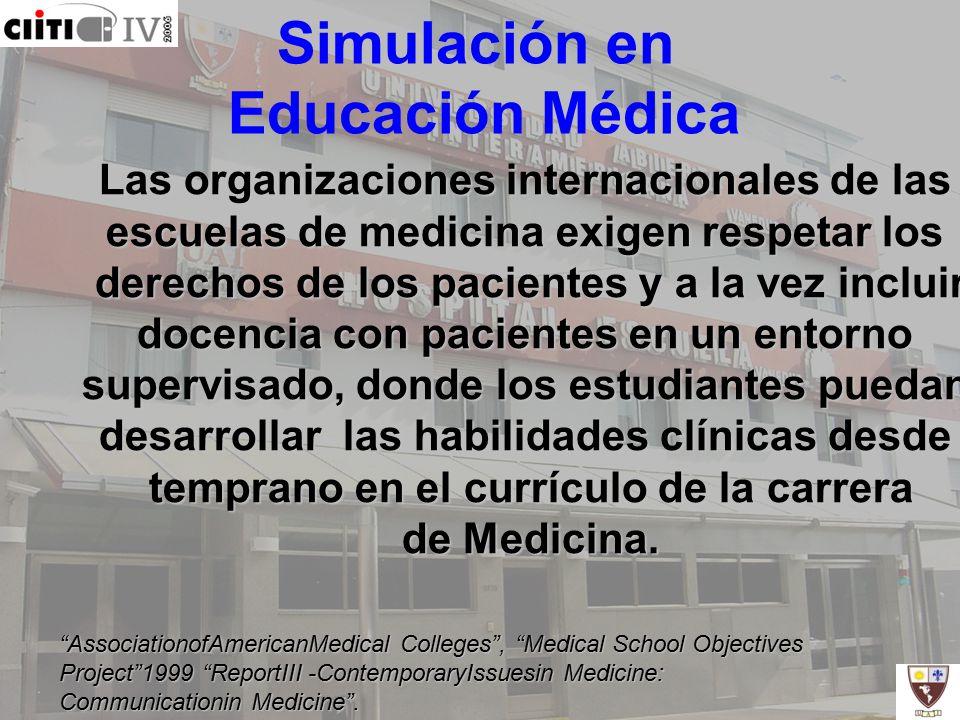Simulación en Educación Médica