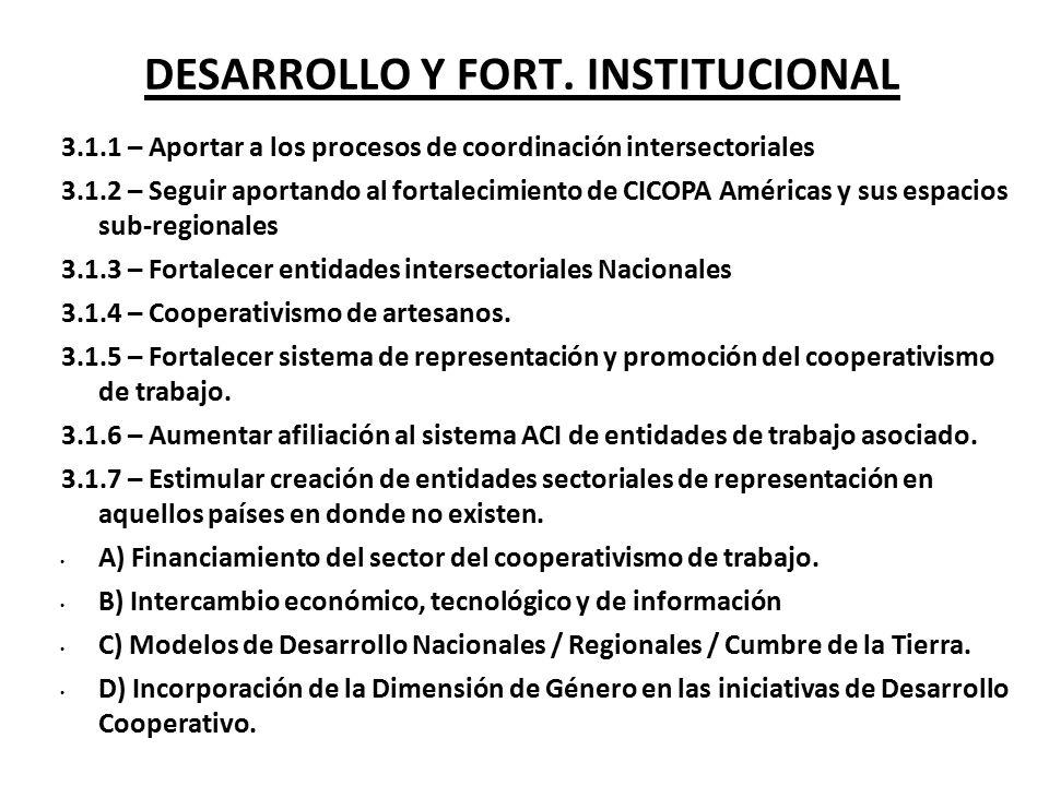 DESARROLLO Y FORT. INSTITUCIONAL