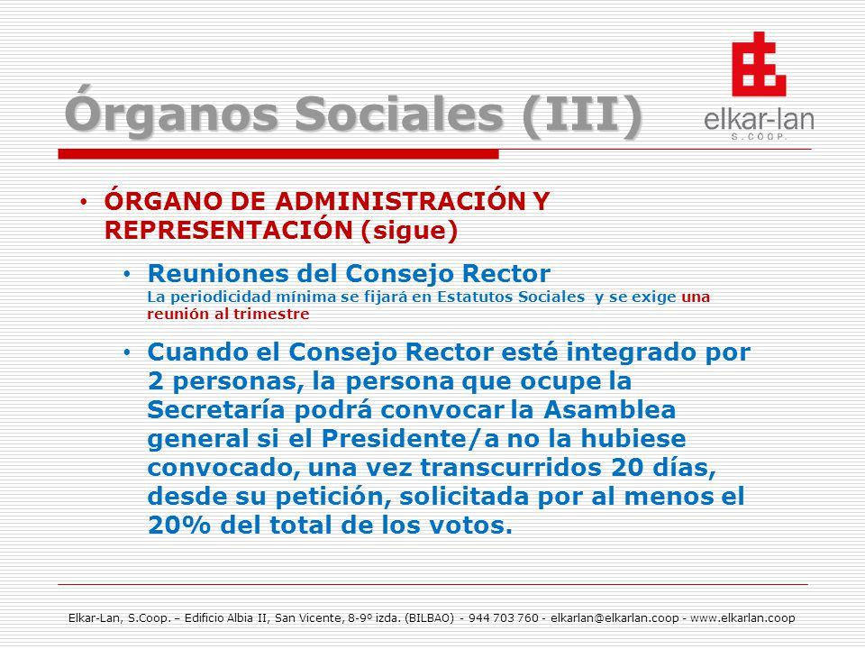 Órganos Sociales (III)