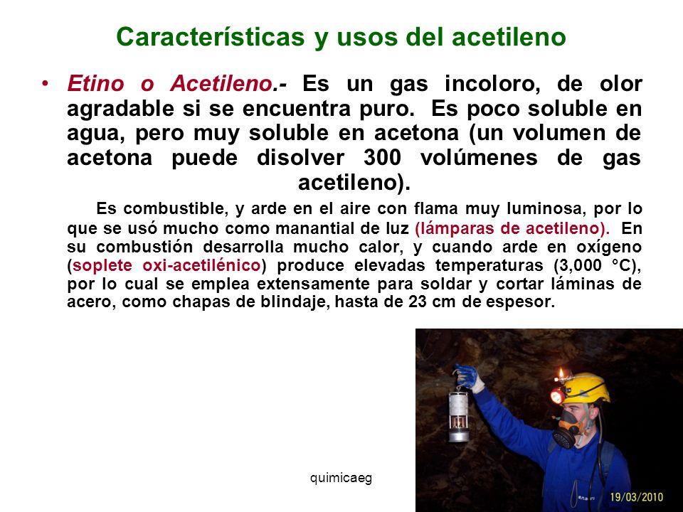 Características y usos del acetileno