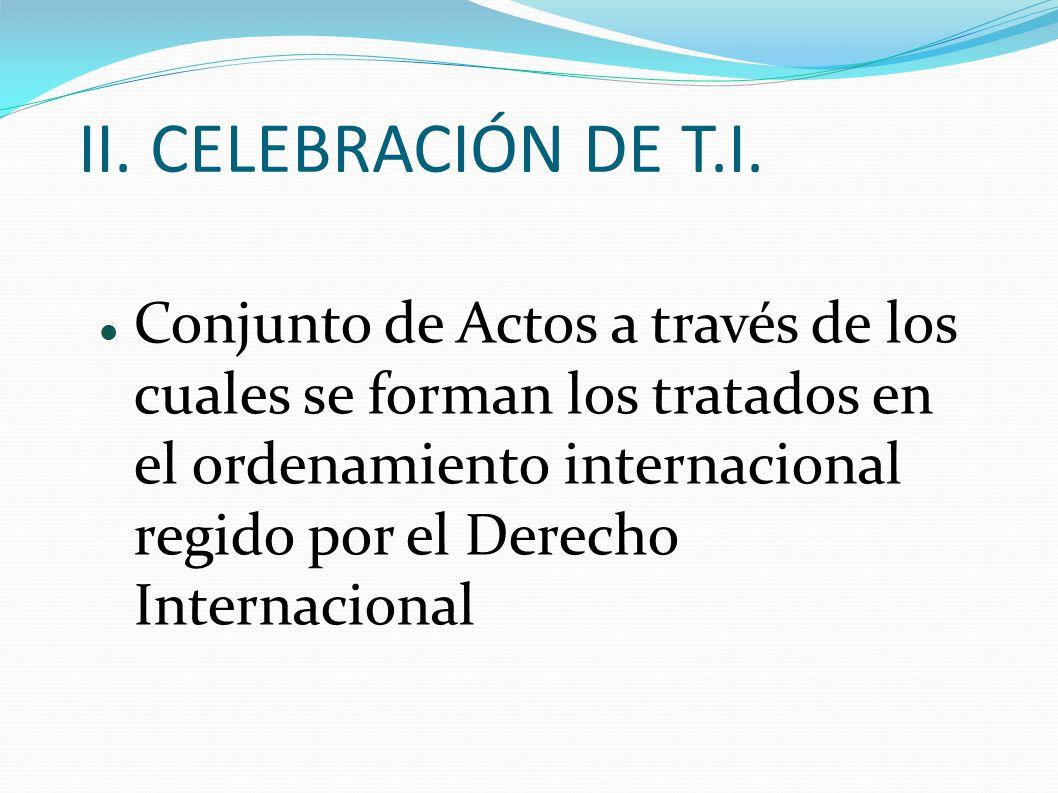 II. CELEBRACIÓN DE T.I.