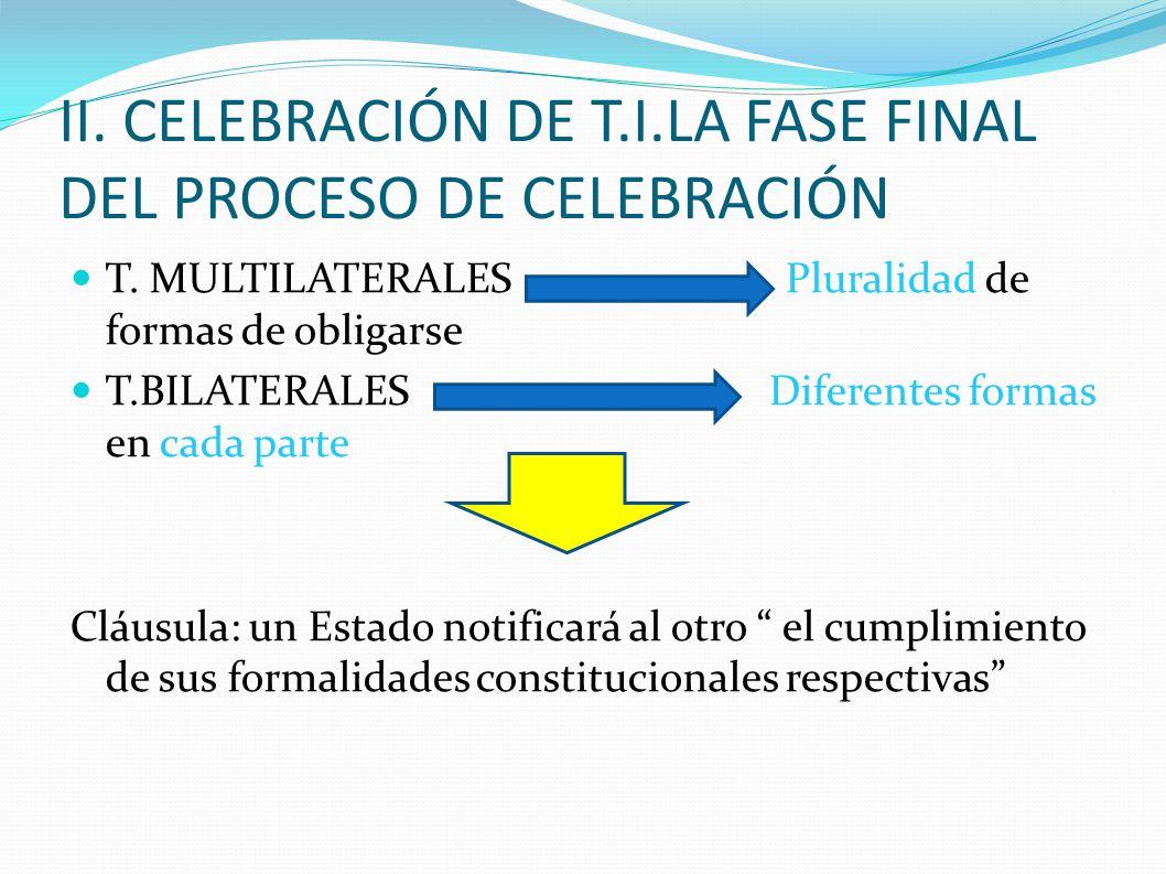 II. CELEBRACIÓN DE T.I.LA FASE FINAL DEL PROCESO DE CELEBRACIÓN