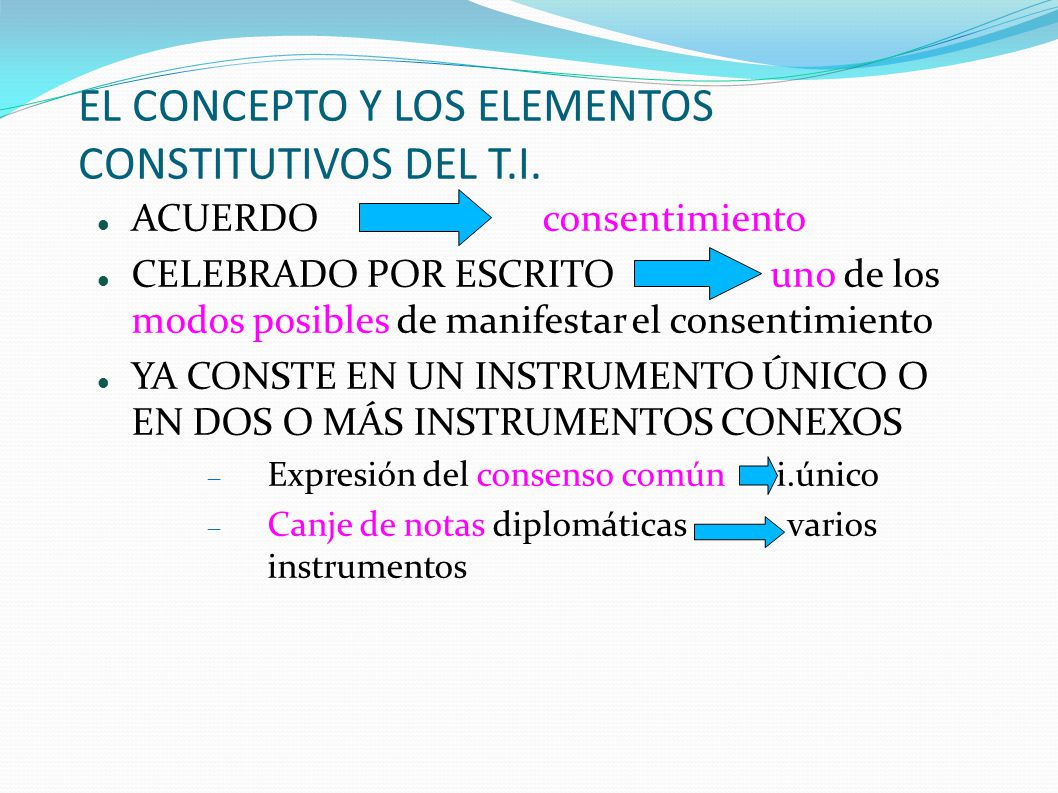 EL CONCEPTO Y LOS ELEMENTOS CONSTITUTIVOS DEL T.I.